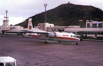 """Fokker F-27 de Iberia EC-BMT """"Río Tajo"""" en Tenerife Norte Los Rodeos"""