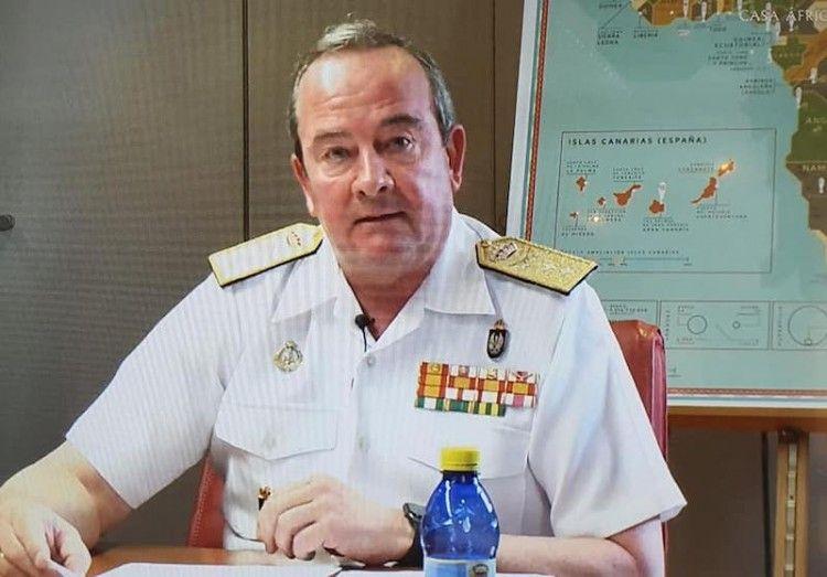 El almirante Juan Lios Sobrino Pérez-Crespo, durante su intervención