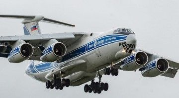 Impactante imagen de un avión Il-76 ruso, en corta final