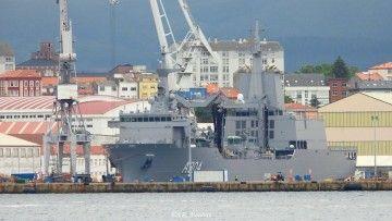 """El buque AAOR """"Stalwart"""", atracado en Navantia Ferrol"""
