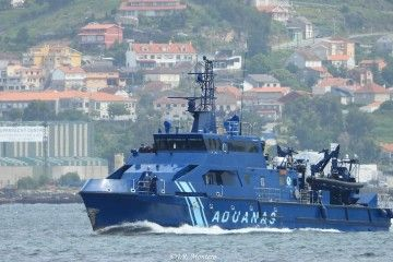 """La patrullera de altura """"Cóndor"""", en aguas de la ría de Vigo"""
