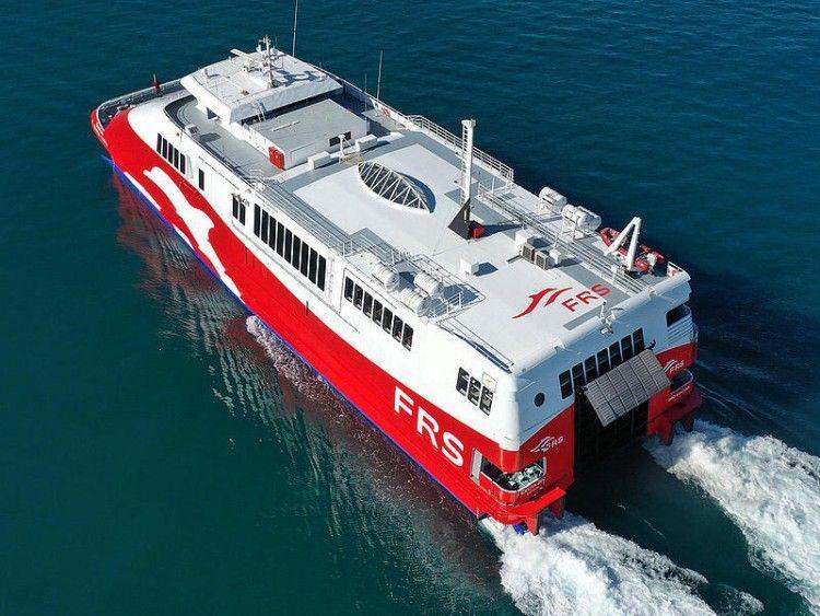 """El catamarán """"Algeciras Jet"""", de FRS Iberia"""