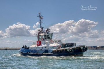 """Estampa marinera del remolcador """"VB Bandama"""""""