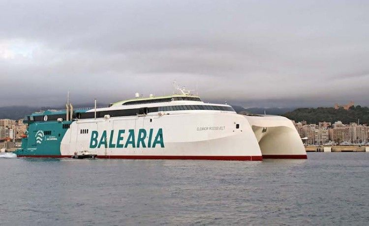 """Balearia posiciona el HSC """"Eleanor Roosevelt"""" en la línea diurna Barcelona-Ciudadela"""