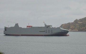 """El buque logístico """"Ysabel"""", a su llegada al puerto de Cartagena"""
