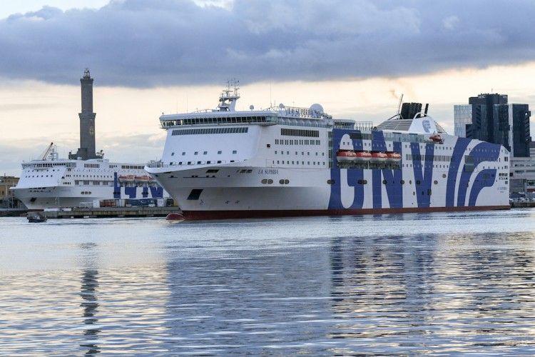 """""""La Superba"""", uno de los posible barcos de GNV en Baleares, si finalmente desembarca"""