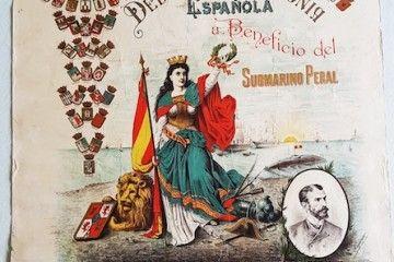 Póster de la colonia española en Argentina dedicado a Isaac Peral