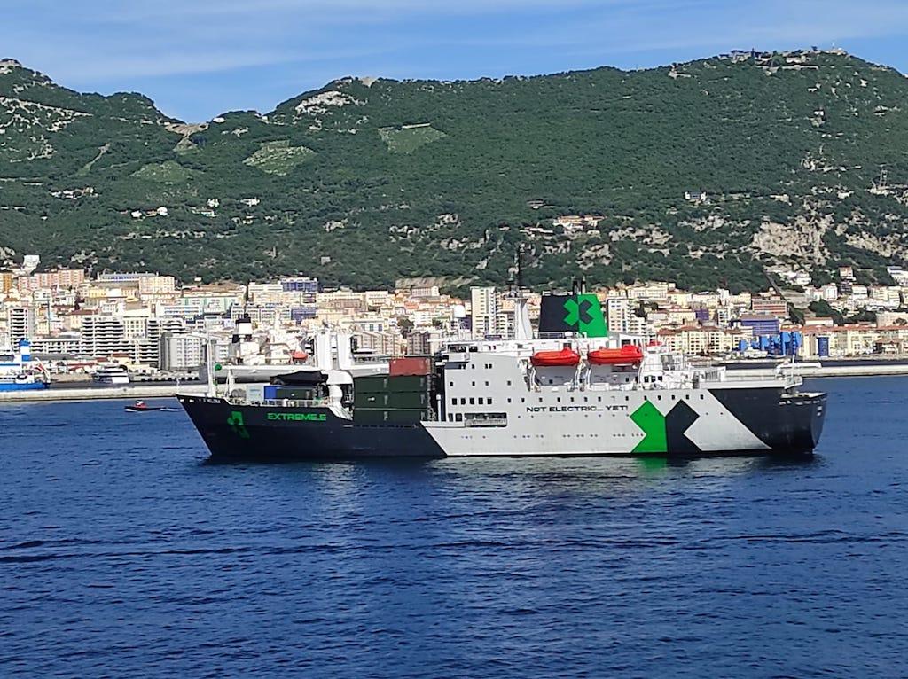 Fondeado en Gibraltar el pasado 5 de mayo