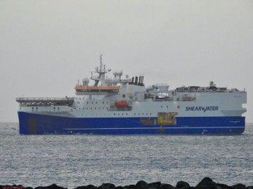 """El buque """"Amazon Conqueror"""", a su llegada al puerto de Las Palmas de Gran Canaria"""