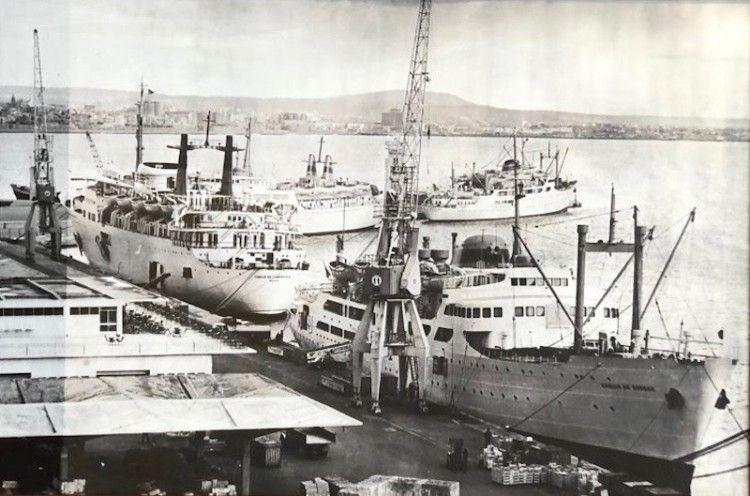 Cuatro buques de Compañía Trasmediterránea coinciden en el verano de 1970 en Palma
