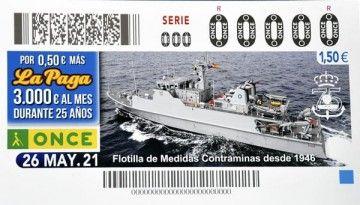 Décimo de lotería nacional dedicado al 75º aniversario del MCM