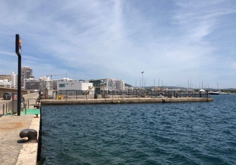 Vista parcial del puerto de Sant Antoni de Portmany