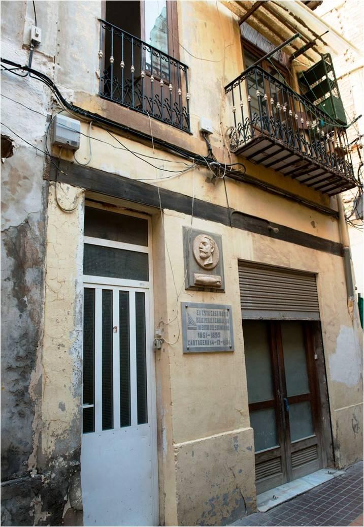 Casa natal de Issac Peral y Caballero en Cartagena