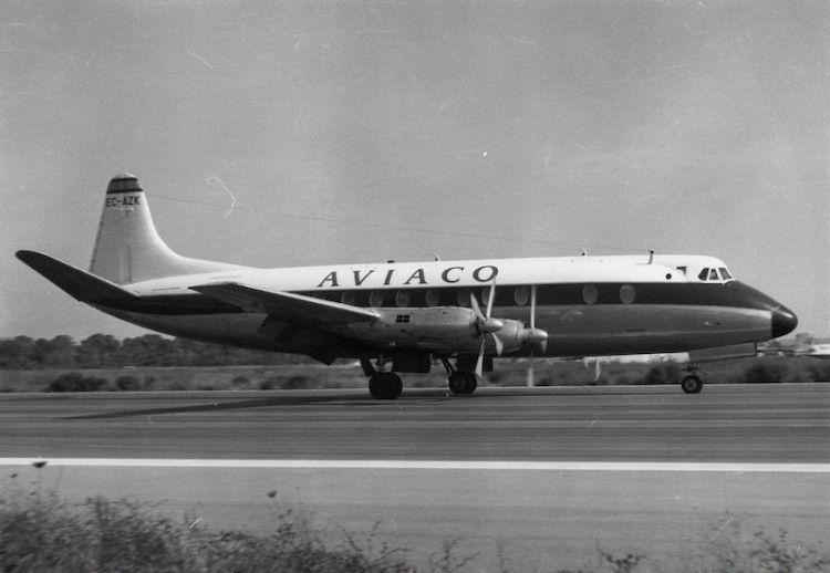 Vickers Viscount alquilado por Aviaco (EC-AZK)