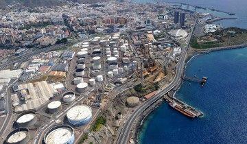 Panorámica de la refinería de CEPSA en Tenerife