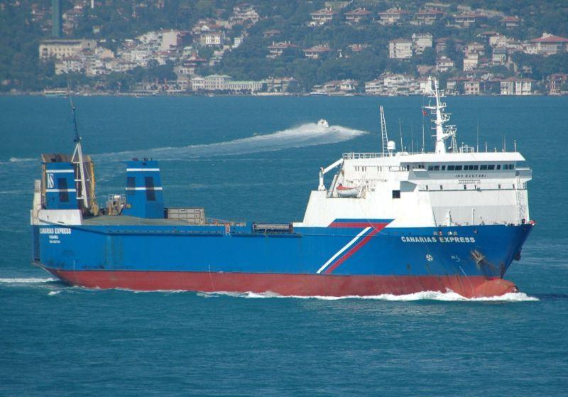"""El buque rolón """"My Rose"""", entonces con el nombre de """"Canarias Express"""""""