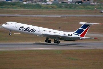 Il-62M de Cubana en el aeropuerto de Sao Paulo