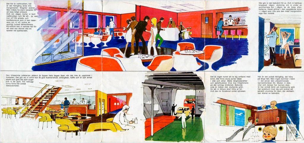 Discoteca, camarote, salón de popa, acceso al garaje y guardería