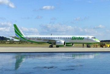 Este es el quinto avión Embrear E195 E-2 de Binter