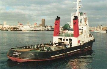 """El remolcador """"Bandama"""", en el puerto de Las Palmas de Gran Canaria"""