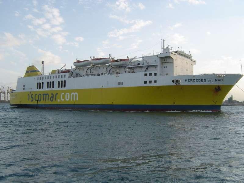 "El ferry ""Mercedes del Mar"", en su etapa de Iscomar"