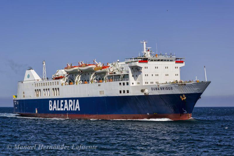 En su última etapa fletado por Balearia