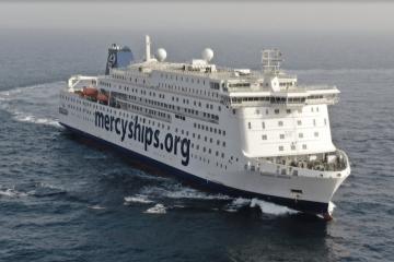 """El buque hospital """"Global Mercy"""", el mayor del mundo en su categoría"""