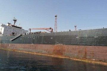 """El petrolero """"Aldan"""" se encuentra retenido en el puerto de Almería"""
