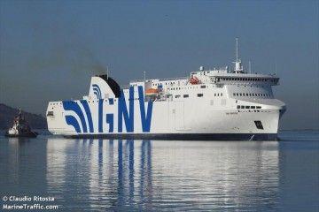 """""""GNV Bridge"""", buque asignado por GNV a la línea Barcelona-Palma"""