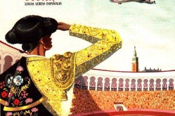 Carátula de los horarios e itinerarios de Iberia en 1955