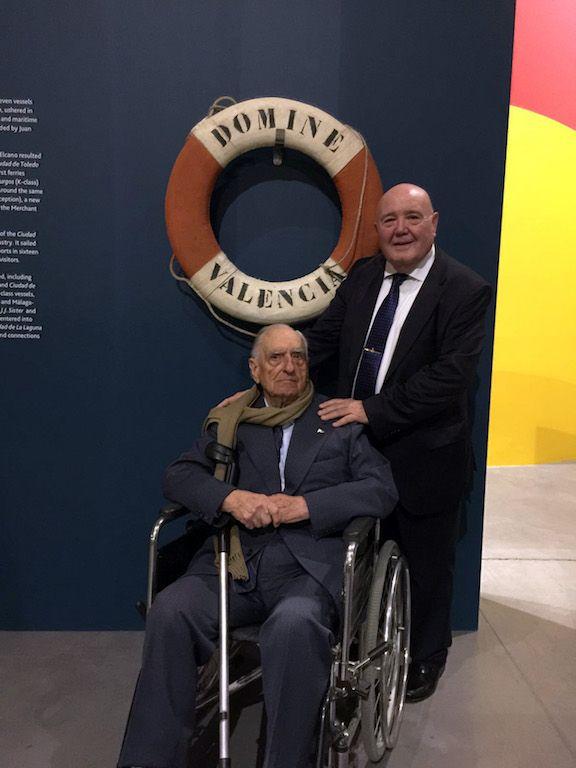 """Manuel Casals Pujol y Laureano García Fuentes. El buque """"Dómine"""" fue el comienzo de una larga amistad"""