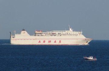 "El ferry ""Volcán de Tauce"", en la línea Algeciras-Tánger Med"