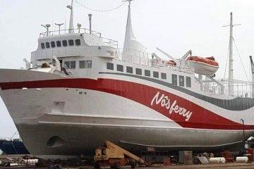 """""""Nôs Ferry Mar d'Canal"""", en el syncrolift de Cabnave"""
