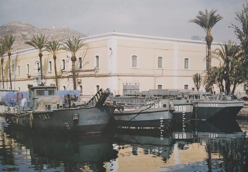 Unidades del Tren Naval en el Arsenal de Cartagena