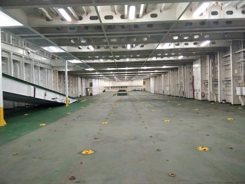 """Una de las cubiertas interiores del buque """"Ysabel"""""""
