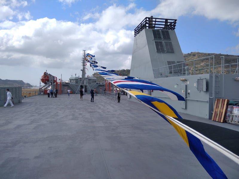 """Cubierta superior exterior del buque """"Ysabel"""""""