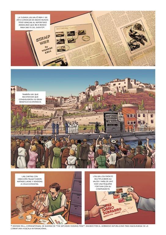 Una de las páginas del cómic de próxima publicación