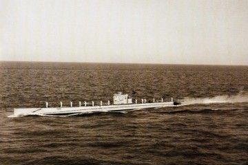 Estampa marinera del submarino C-4