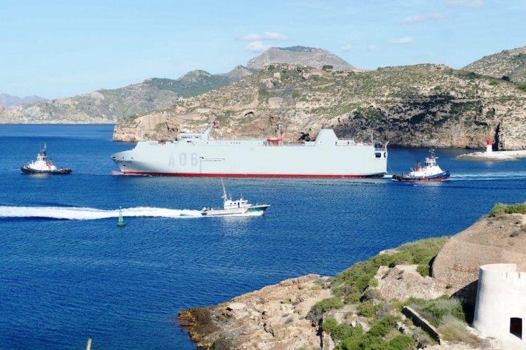 """El buque """"Ysabel"""", en su segunda salida a la mar desde Cartagena"""