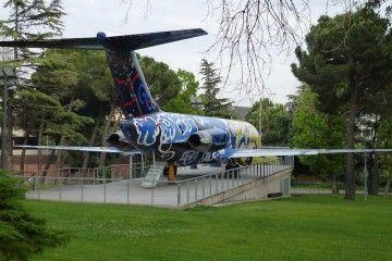 El avión Douglas DC-9 EC-BQZ está expuesto desde 2004 en Madrid-Barajas