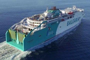 """Vista aérea del ferry """"Bahama Mama"""""""
