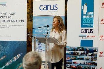 Raquel Sánchez, ministra del Mitma, en su intervención en la asamblea de ANAVE
