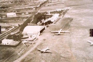 Panorámica del aeropuerto de Los Rodeos en 1962