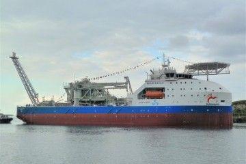 """Estampa marinera del buque FPSO """"Blue Eagle"""""""
