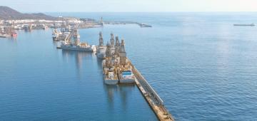 Vista parcial del puerto de Las Palmas de Gran Canaria