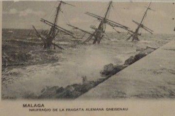 "La fragata alemana ""Gneisenau"", hundida en aguas de Málaga"