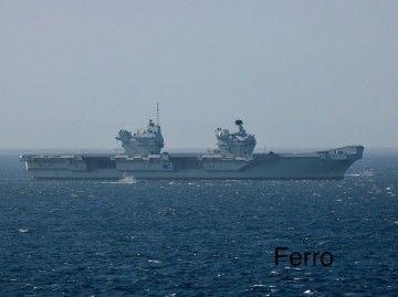 """El portaaviones """"HMS Prince of Wales"""", a su recalada esta mañana en Gibraltar"""