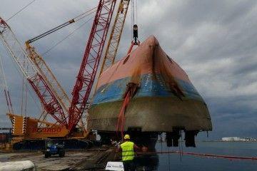 """El buque siniestrado será desguazado """"in situ"""""""