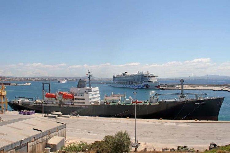 """El buque-escuela """"Empire State"""", atracado en el puerto de Palma de Mallorca"""