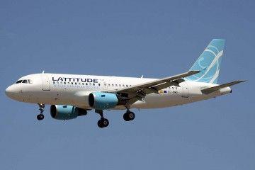 El único avión de Lattitude Hub, el día de su estreno en Madrid